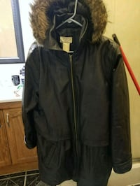 black and brown parka jacket Wisconsin Dells, 53965