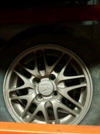 """Bronze 14""""rims and tires  Mississauga"""