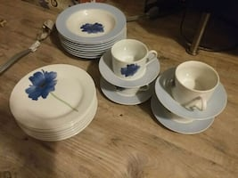 Side plate bowls cup & sauser New