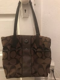 monogrammed brown Coach tote bag Sugar Creek, 64054