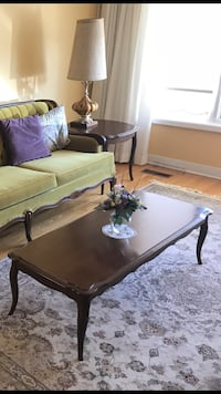 Antique coffee table with 2 matching end tables (in pristine condition made fro solid fruitwood (1967) $350 OBO Oshawa, L1L 0C7
