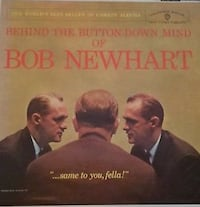 BEHIND THE BUTTON DOWN MIND OF BOB NEWHART LP 1961 WARNER  Hickory Hills, 60457