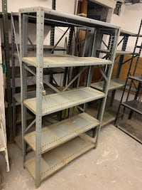 Tall metal garage storage shelves EACH New Brighton