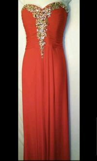 red strapless party dress, floor length, size M El Paso, 79912
