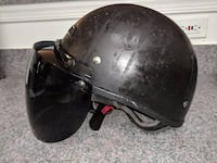 Vega XTS Naked Half Helmet Size M with tinted Face Guard/Shield 11 km