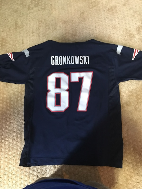 new concept d88b9 c6f4b Rob Gronkowski 2015 nfl jersey navy blue alternate #87 Youth