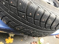14 inch studded winter tires 3691 km