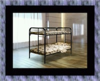 Twin bunk bed frame with mattress Crofton