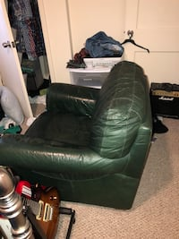 Leather Chair ($20) and Loveseat ($30)