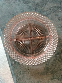 Miss America pattern pink depression divided dish