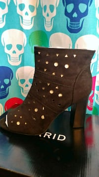 black leather studded high-top boots Murfreesboro, 37130