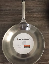 """New Le Creuset 10"""" Tri-Ply Stainless Steel/Aluminum Core Fry Pan"""
