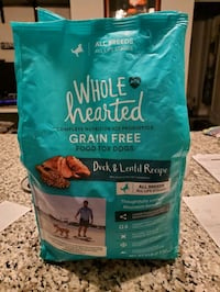 Duck and Lentil dog food bag