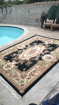 brown and black floral area rug Poway, 92064