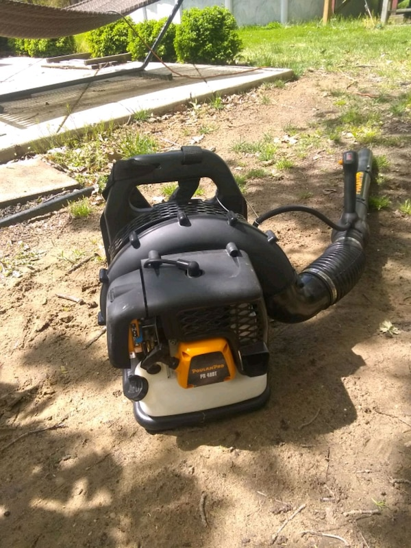 black and yellow leaf blower