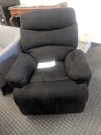 black suede recliner sofa chair Monrovia, 91016