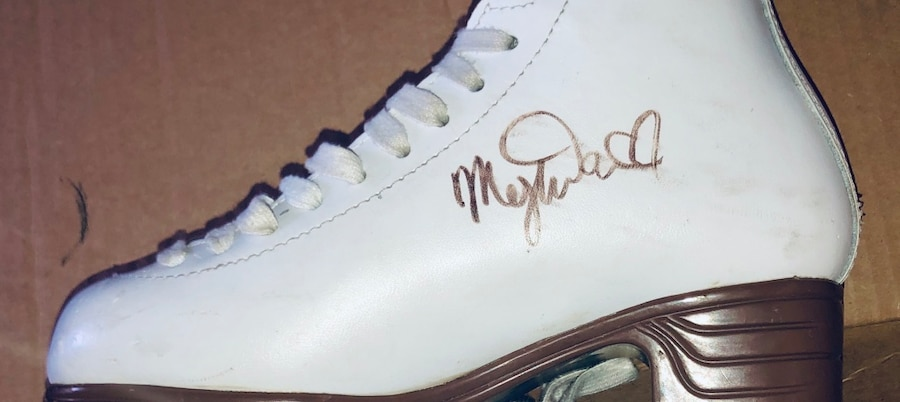 Photo Pair of Ice Skates Autographed by Meryl Davis Charlie White