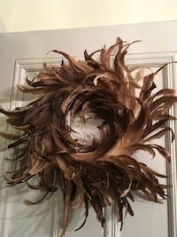 Large rooster feather wreath Stirling-Rawdon, K0K