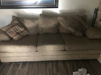 Brown fabric loveseat and couch Mesa, 85202