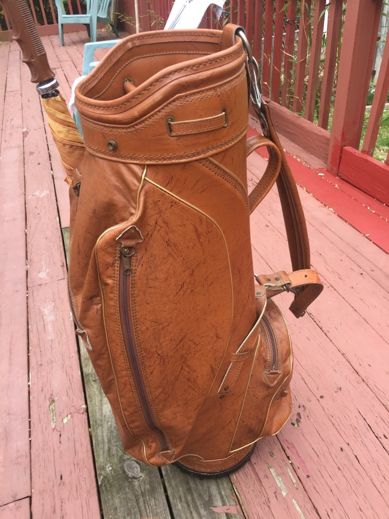 Photo Burton Vinyl Leather Golf Bag w/umbrella and rain cover