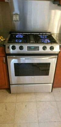 silver and black gas range oven Brooklyn, 11231