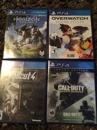 four assorted-title Sony PS4 cases Winnipeg, R3M 0Y5