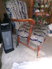 Old high back chair