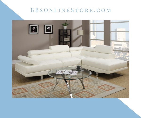 Astonishing White Faux Leather Sectional Sofa F7320 Unemploymentrelief Wooden Chair Designs For Living Room Unemploymentrelieforg