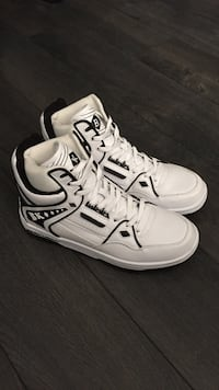 Men's British Knights high top shoes. Never worn. Says size 8.5 but fits a size 10 Calgary, T2G