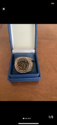 Eagle Ring size 12  Gold plated No holds Alexandria, 22312