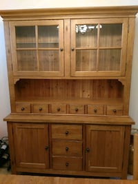 brown wooden cabinet with hutch Renton, 98058