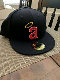 Angels New Era navy blue fitted cap 7 5/8 2249 mi
