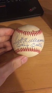 Mickey Mantle/ Ted Williams Autographed baseball Potomac, 20854