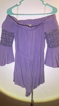 Off The Shoulder Purple Romper: Size Small Pearland, 77584