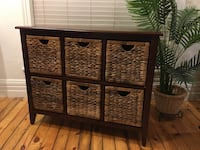 Storage Chest with wicker drawers