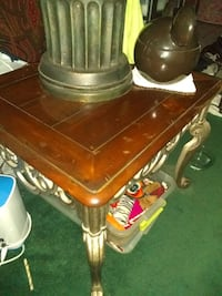 Side table solid oak Palatine