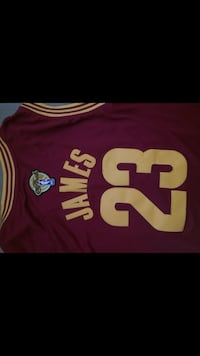 Cleveland Cavaliers Lebron James 23 basketball jersey