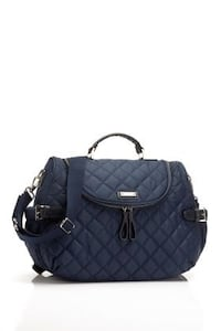 Storksak navy poppy diaper bag Pasadena