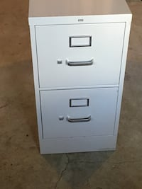White metal 2-drawer filing cabinet Bethesda, 20814