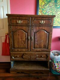 brown wooden cabinet with drawer Houston, 77057