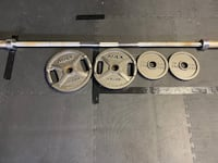 Olympic bar barbell weight set olympic weights