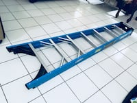 blue and white metal bed frame Hialeah, 33012