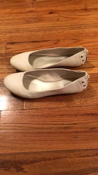 Size 7, a.n.a brand, worn once, white ballet flats  North Bellmore, 11710
