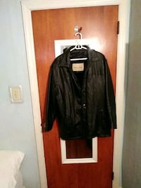 black leather zip-up jacket Larksville, 18704