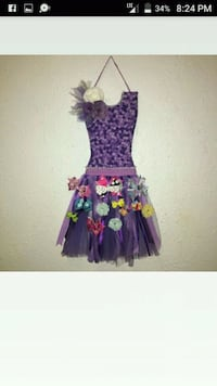 purple and pink floral sleeveless dress Bakersfield, 93307