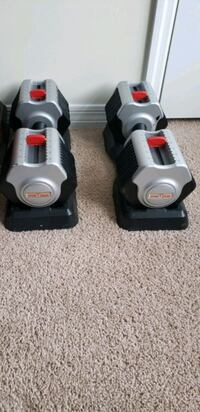 Adjustable dumbbells. 105lb/each Hampton, 23666