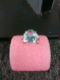 silver-colored ring with clear gemstone Yuma, 85364