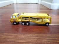 Tonka Yellow Car Carrier Hauler with Cars Pressed Steel Vintage 1960s