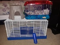 white and blue metal pet cage Travis County, 78617