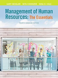 Management of Human Resources: The Essentials, Fourth Canadian Edition, Toronto, M4P 1L8